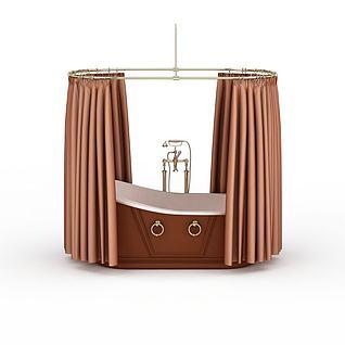 浴室浴缸3d模型
