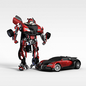 3d汽车变形金刚模型