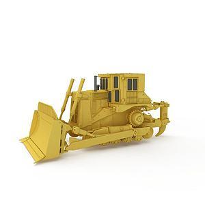 新款推土機模型3d模型
