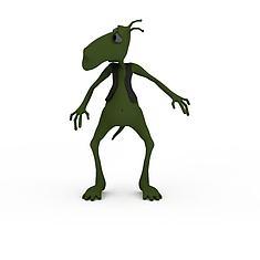 绿色小怪物3D模型3d模型