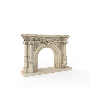 3d欧式古建筑模型