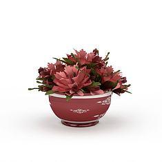 花盆栽3D模型3d模型