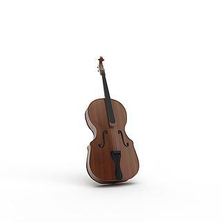 大提琴3d模型