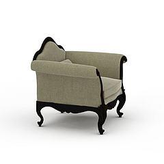 灰色单人沙发模型3d模型