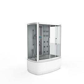 浴缸淋浴房一体模型