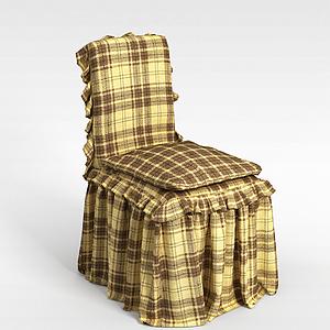 3d方格椅子模型