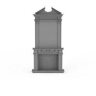 简约灰色方柱3d模型