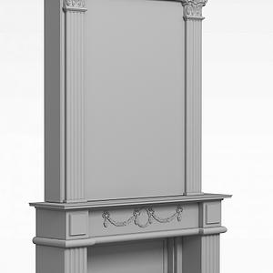 簡約灰色方柱模型