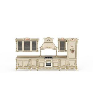 歐式描金櫥柜模型