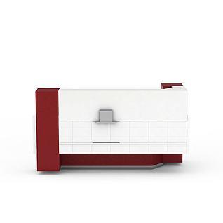 高档红色橱柜3d模型