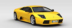 黄色跑车模型3d模型
