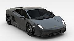 现代黑色汽车模型3d模型