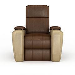 高档真皮沙发模型3d模型