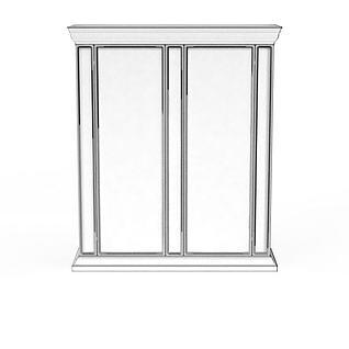 3d欧式圆弧窗模型_欧式圆弧窗3d模型下载
