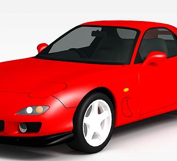 高级红色跑车