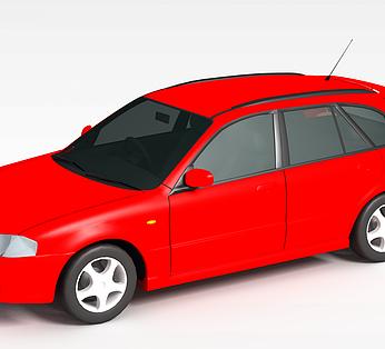 红色时尚汽车