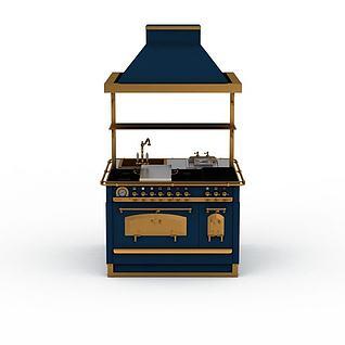 蓝色保温台3d模型