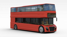 3d双层<font class='myIsRed'>公交车</font>模型