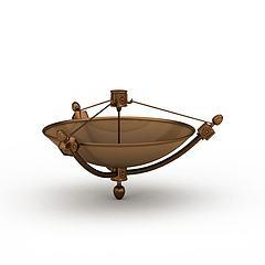 褐色金属陈设品模型3d模型