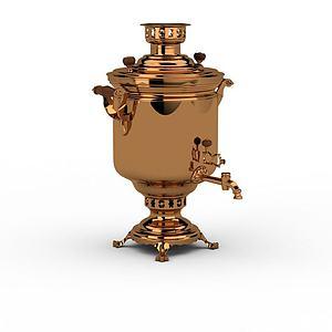 金色啤酒機模型3d模型