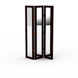 折叠镜子屏风3d模型