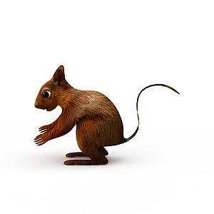 棕色小老鼠玩具模型3d模型