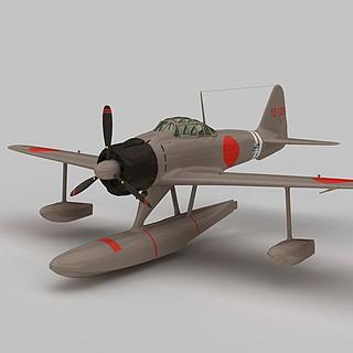 A6M2N战斗机3d模型