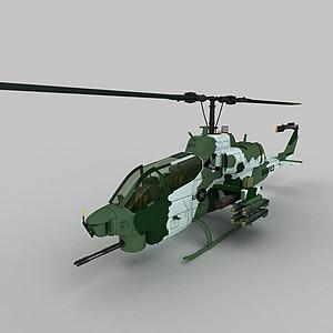 3dAH_1W戰斗機模型