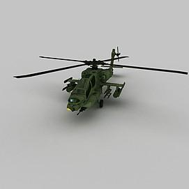 Apache战斗机3d模型