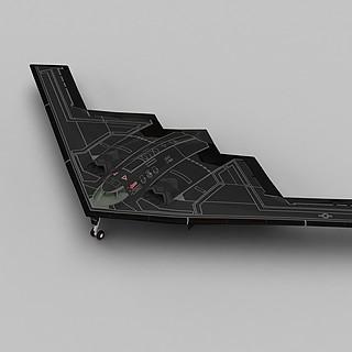 B2轰炸机3d模型