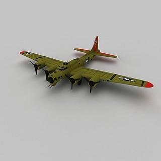 b17g轰炸机3d模型