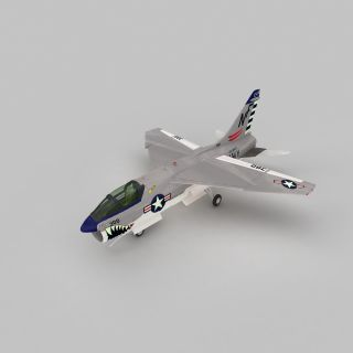 Corsair2战斗机3d模型