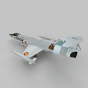 3dF104GS戰斗機模型