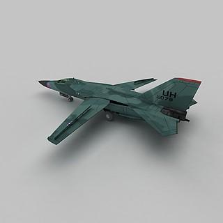 F111战斗机3d模型