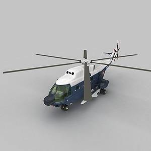3dFRELON直升戰斗機模型