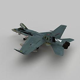 Hornet战斗机3d模型