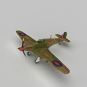 3dHURRIMK1战斗机模型