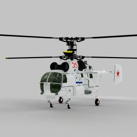 KA27<font class='myIsRed'>直升机</font>3d模型