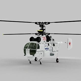 KA27直升机3d模型