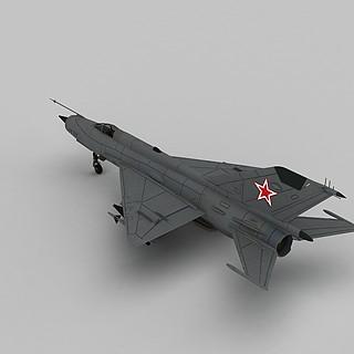 mig21战斗机3d模型