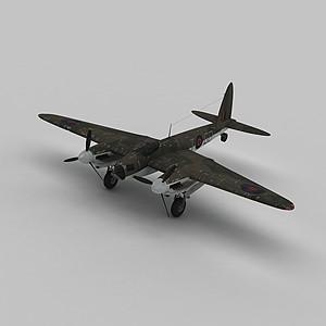 3dmosquitob戰斗機模型
