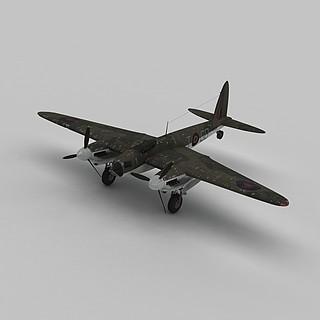 mosquitob战斗机3d模型
