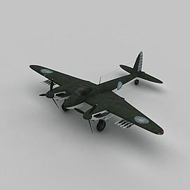 MOSQUITOC战斗机3d模型