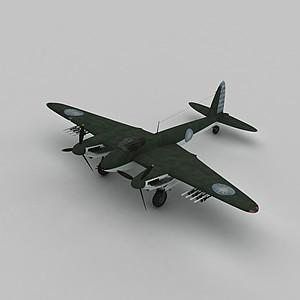 3dMOSQUITOC戰斗機模型