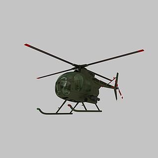 OH6A直升机3d模型