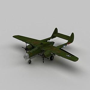 3dP61夜間戰斗機模型