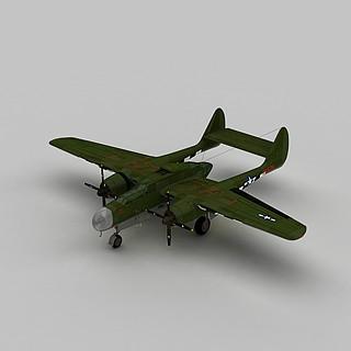 P61夜间战斗机3d模型