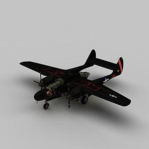 3dP61b战斗机模型