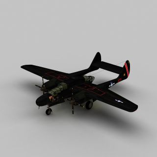 P61b战斗机3d模型