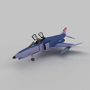 3dPhantomF4E戰斗機模型